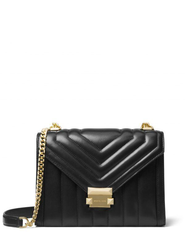 Michael Kors Large Whitney Shoulder Bag Black