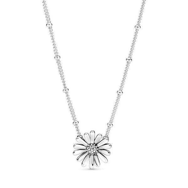 Pandora Pavé Daisy Flower Halsband