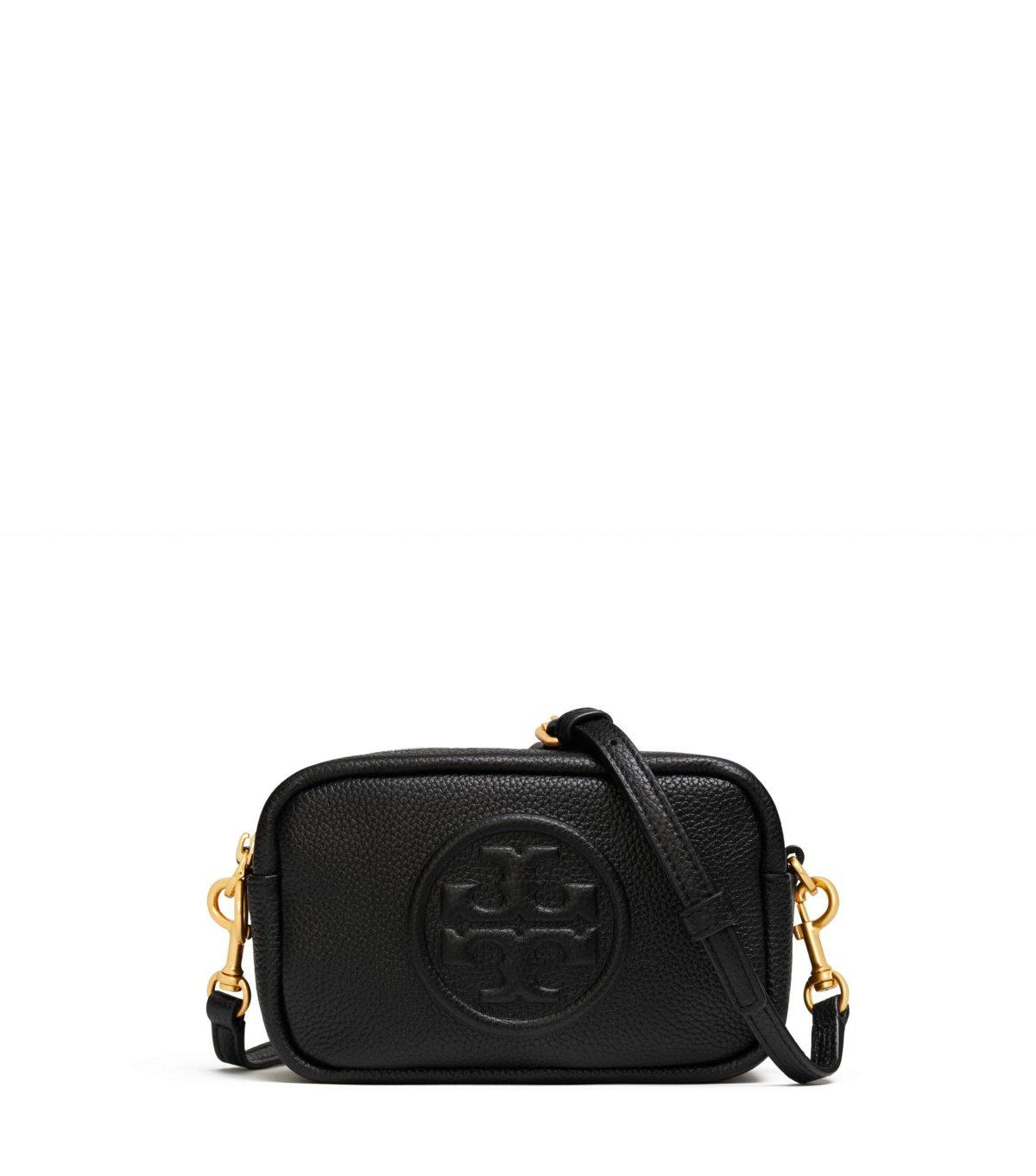 Perry Bombe Mini Bag Small Leathers Black