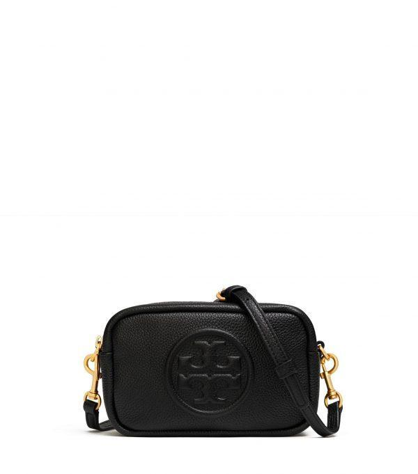 Perry Bombe Mini Bag Small Leathers Black