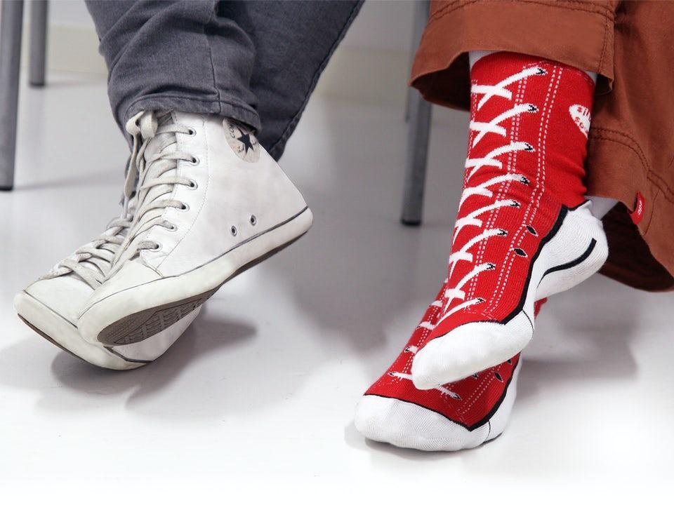 Sneaker Socks Röd 37-45
