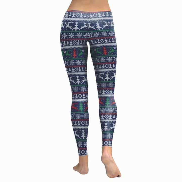 Spralla Jul-leggings Blåa med Renar