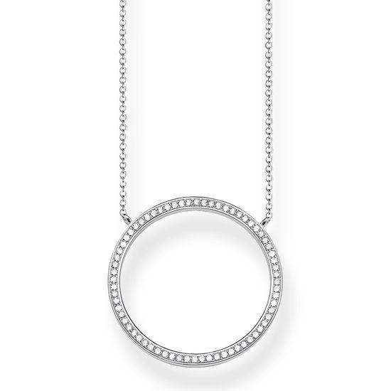 Thomas Sabo Halsband Glittrande Stor Cirkel