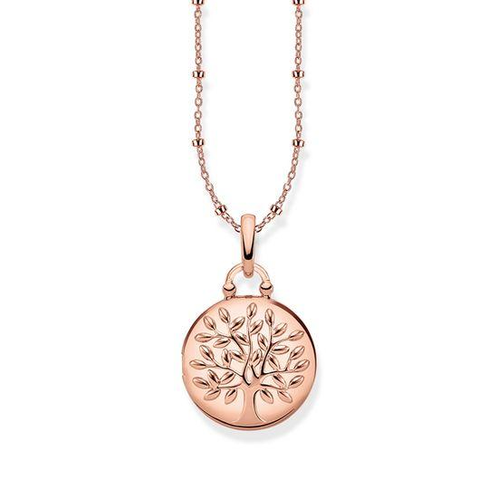 Thomas Sabo Halsband Medaljong Rund Rosé Tree of Love