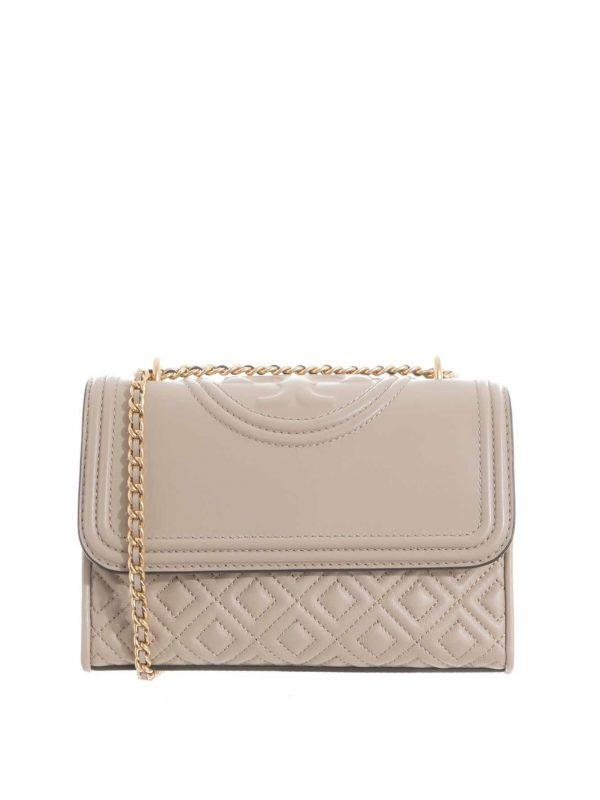 Tory Burch Fleming Small Convertible Shoulder Bag Light Taupe
