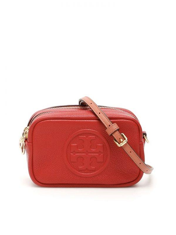 Tory Burch Perry Bombe Mini Bag Small Leathers Red Apple