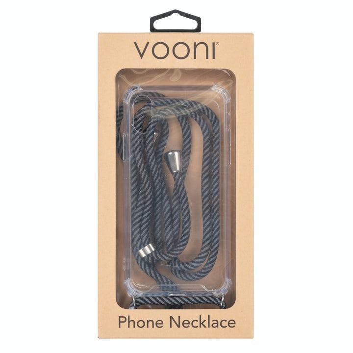 Vooni Phone Necklace Gråsvart Band iPhone XR