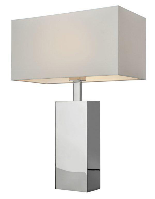 Bordslampa Block Silver/Vit