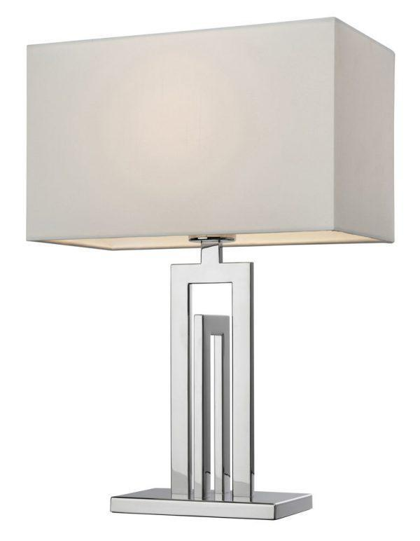 Bordslampa City Silver/Vit