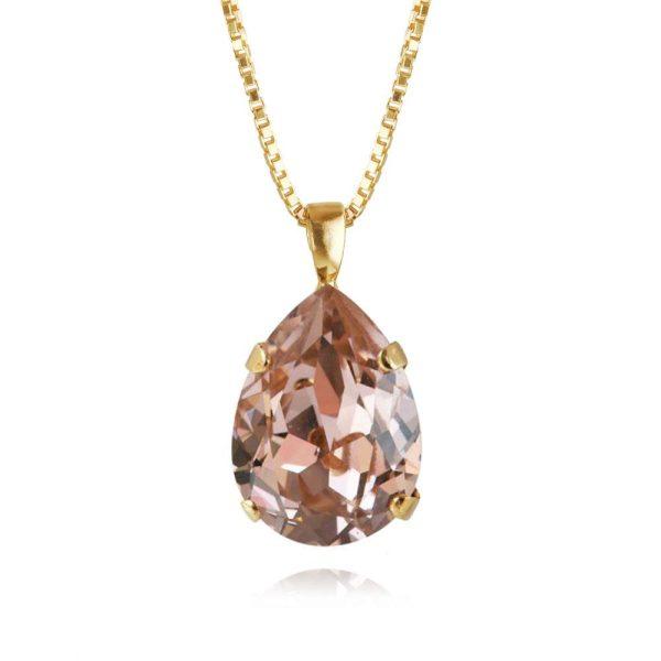 Caroline Svedbom Smycken Classic Drop Necklace Rhodium Vintage Rose