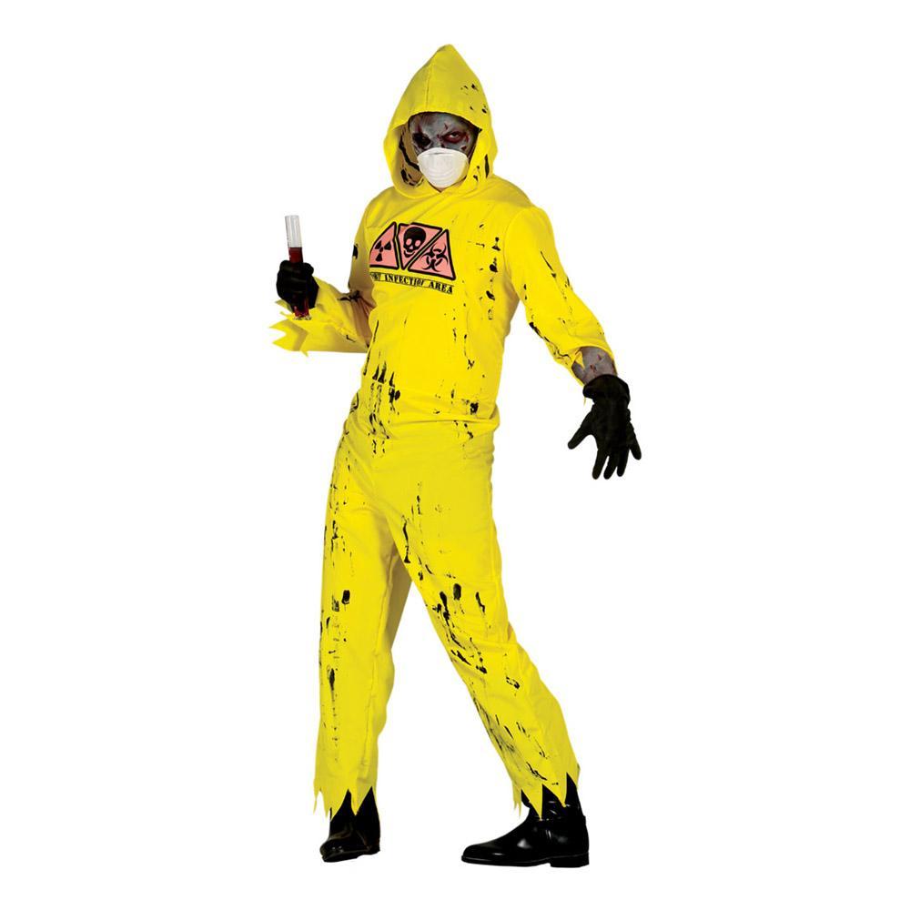 Radioaktiv Zombie Maskeraddräkt - One size (Large)