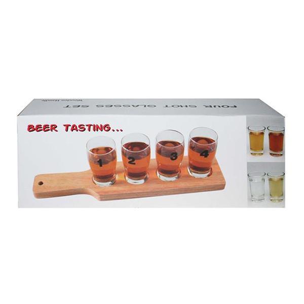 Shotglas med Bricka 1-2-3-4