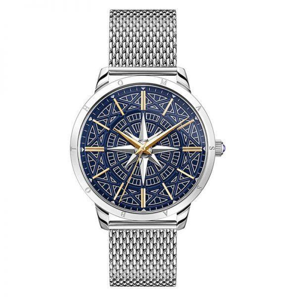 Thomas Sabo Herrklocka Rebel Spirit Kompass Bicolor 42 mm Stål/Blå