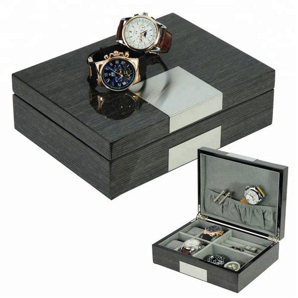 Klocklåda/Smyckesbox Svart