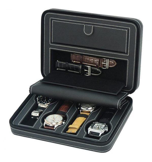 Svart Klocklåda - 4 klockor