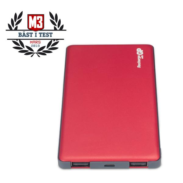 GP Powerbank Voyage 2 / 5000 mAh - Raspberry (Fyndvara - Klass 1)