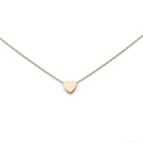 Jewelrybox.se Guldhalsband Med Blankt Hjärta