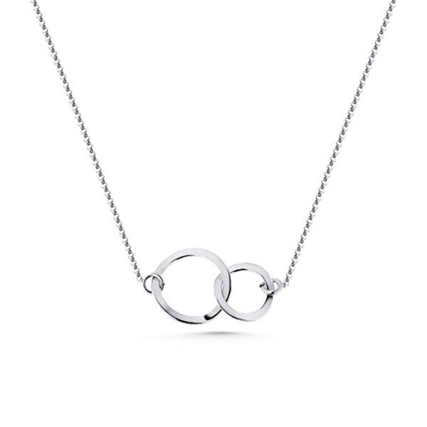 Jewelrybox.se Halsband Cirklar Silver