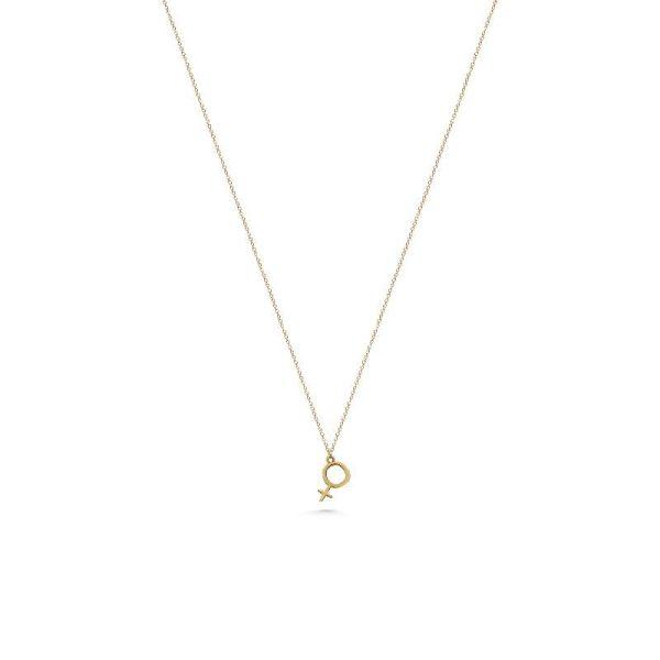 Jewelrybox.se Halsband Kvinnosymbol 18 K Guld