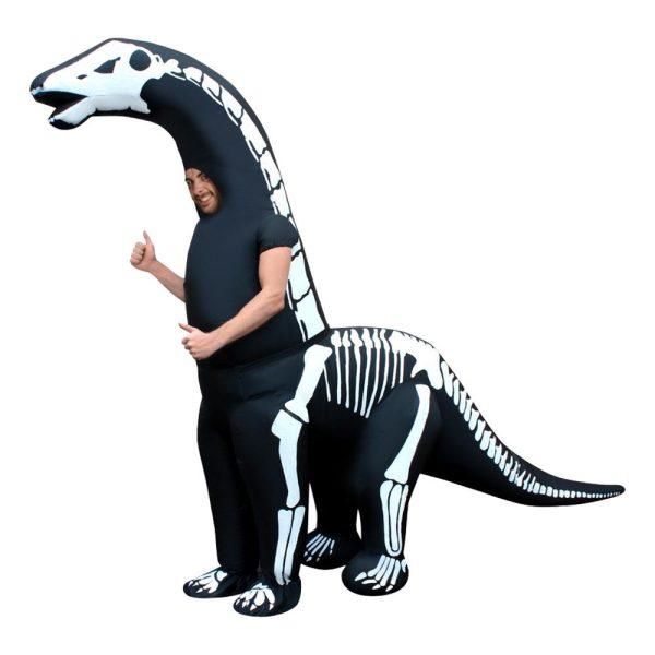 Uppblåsbar Diplodocus Skelett Maskeraddräkt - One size
