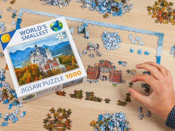 Världens Minsta 1000-bitars Pussel Santorini