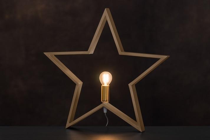 Bordslampa Stjärna Guld