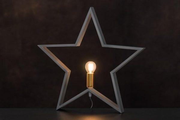 Bordslampa Stjärna Silver