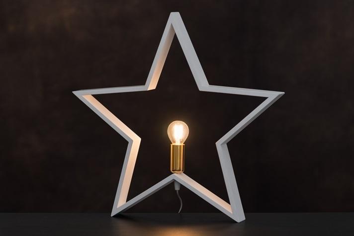 Bordslampa Stjärna Vit