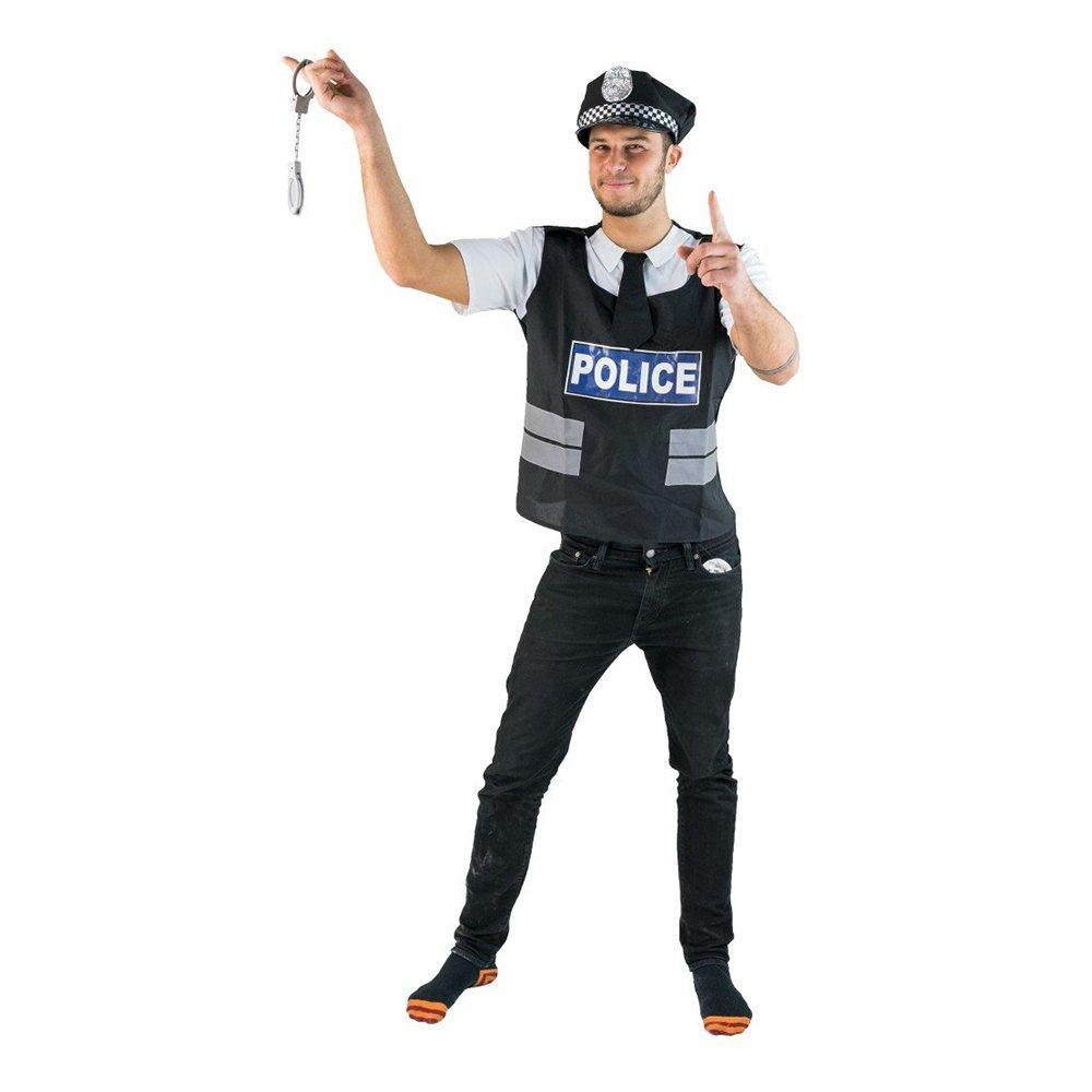 Brittisk Polisman Budget Maskeraddräkt - One size