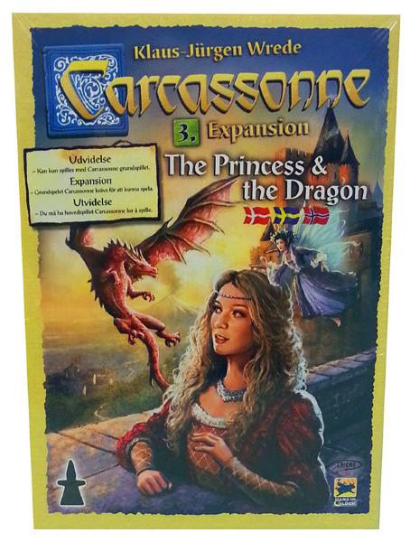Carcassonne - Expansion 3: The Princess & The Dragon (Skandinavisk)