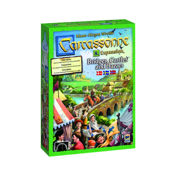 Carcassonne - Expansion 8: Bridges, Castles & Bazaars (Skandinavisk)
