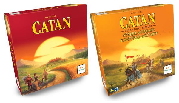 Catan - Settlers of Catan + Städer och Riddare (Svensk)
