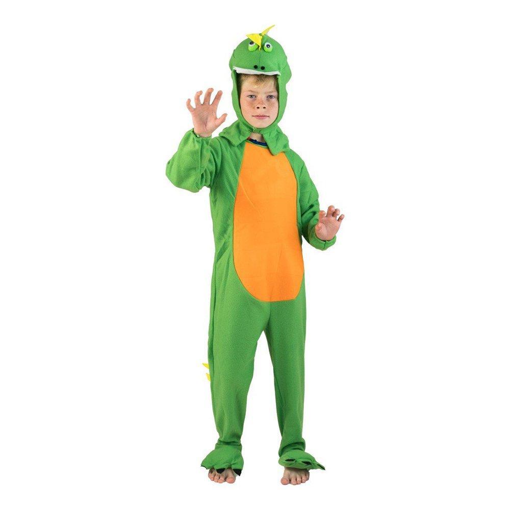 Dinosaurie Grön Barn Maskeraddräkt - One size