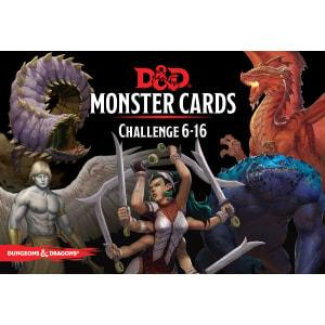 Dungeons & Dragons 5th Edition Challenge 6-16 Monster Cards
