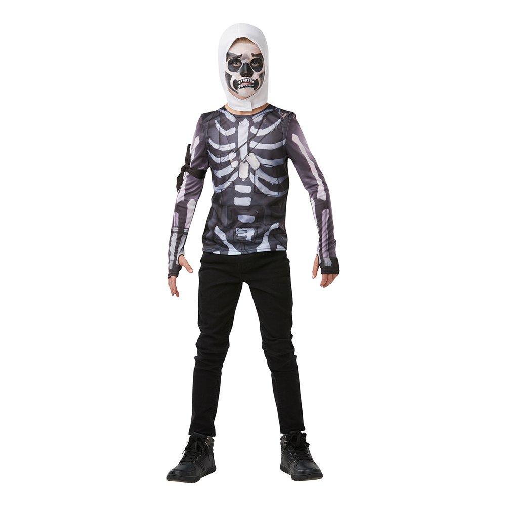 Fortnite Skull Trooper Teen Budget Maskeraddräkt - XX-Small
