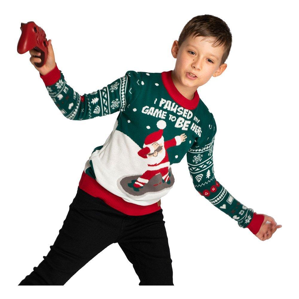 I Paused My Game Jultröja för Barn - Large