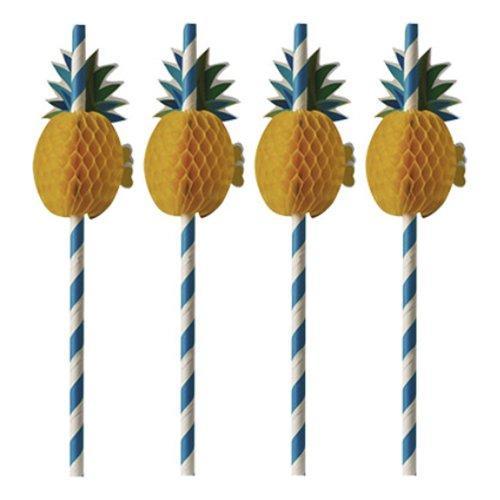 Papperssugrör Ananas - 50-pack