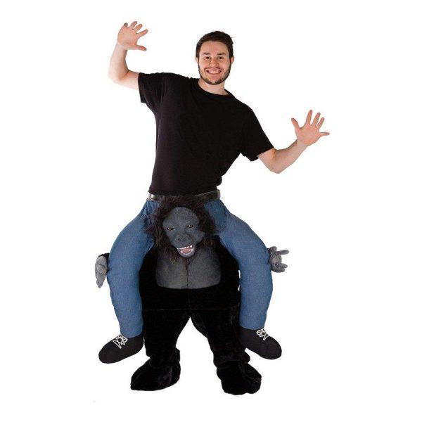 Piggyback Gorilla Maskeraddräkt - One size