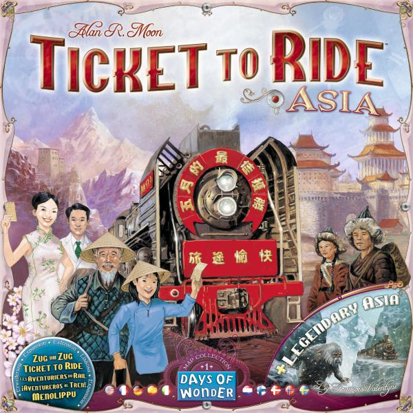 Ticket To Ride Map Collection No 1 - Team Asia & Legendary Asia Expansion (Eng & Nordisk)