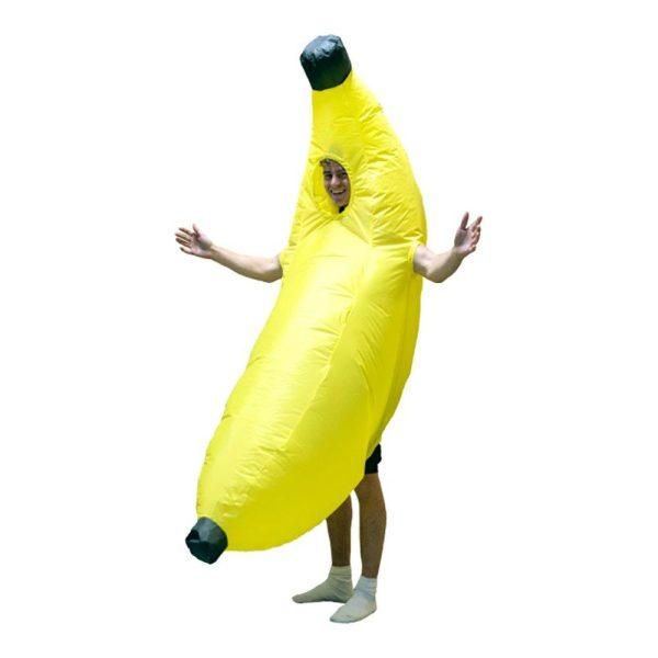 Uppblåsbar Banan Maskeraddräkt - One size
