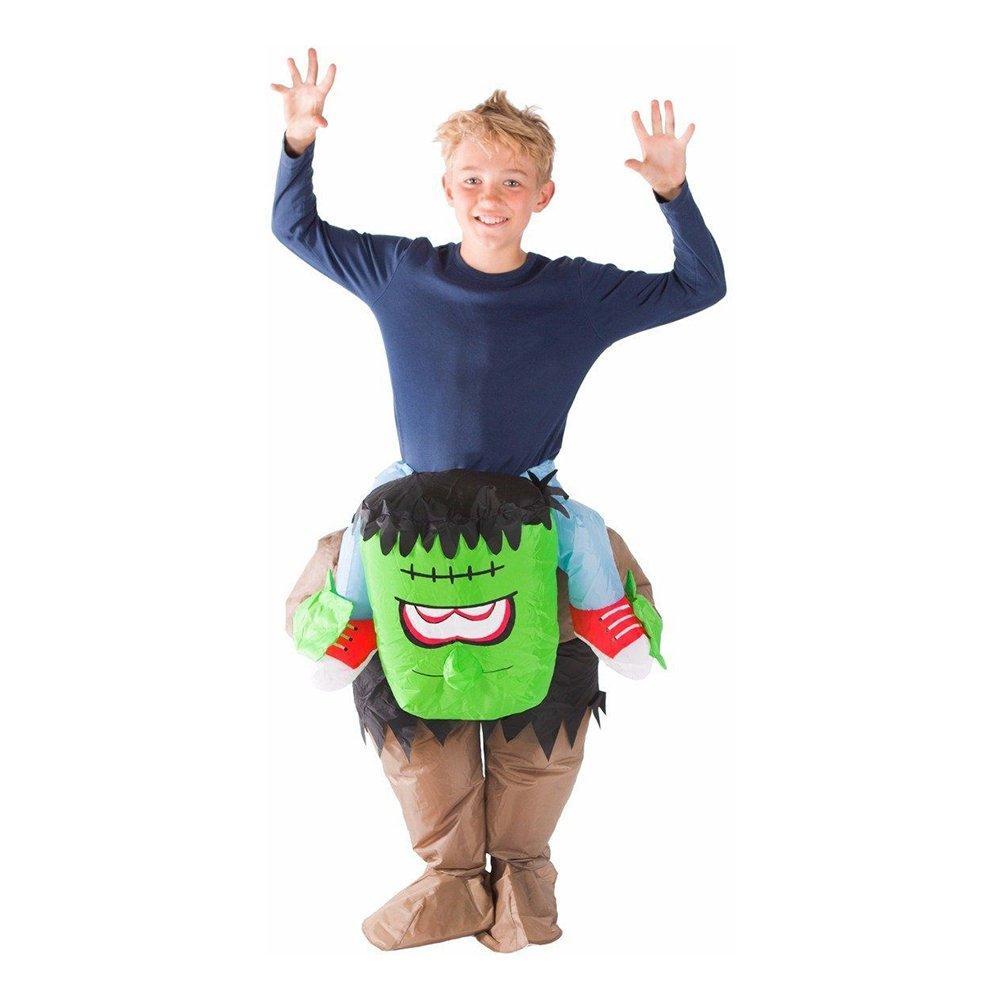 Uppblåsbar Ridande Frankenstein Barn Maskeraddräkt - One size