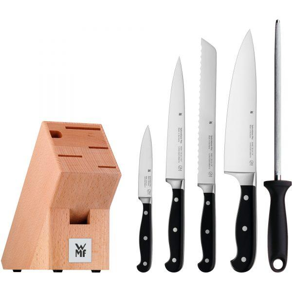 WMF Spitzenklasse Plus Knivset med knivblock