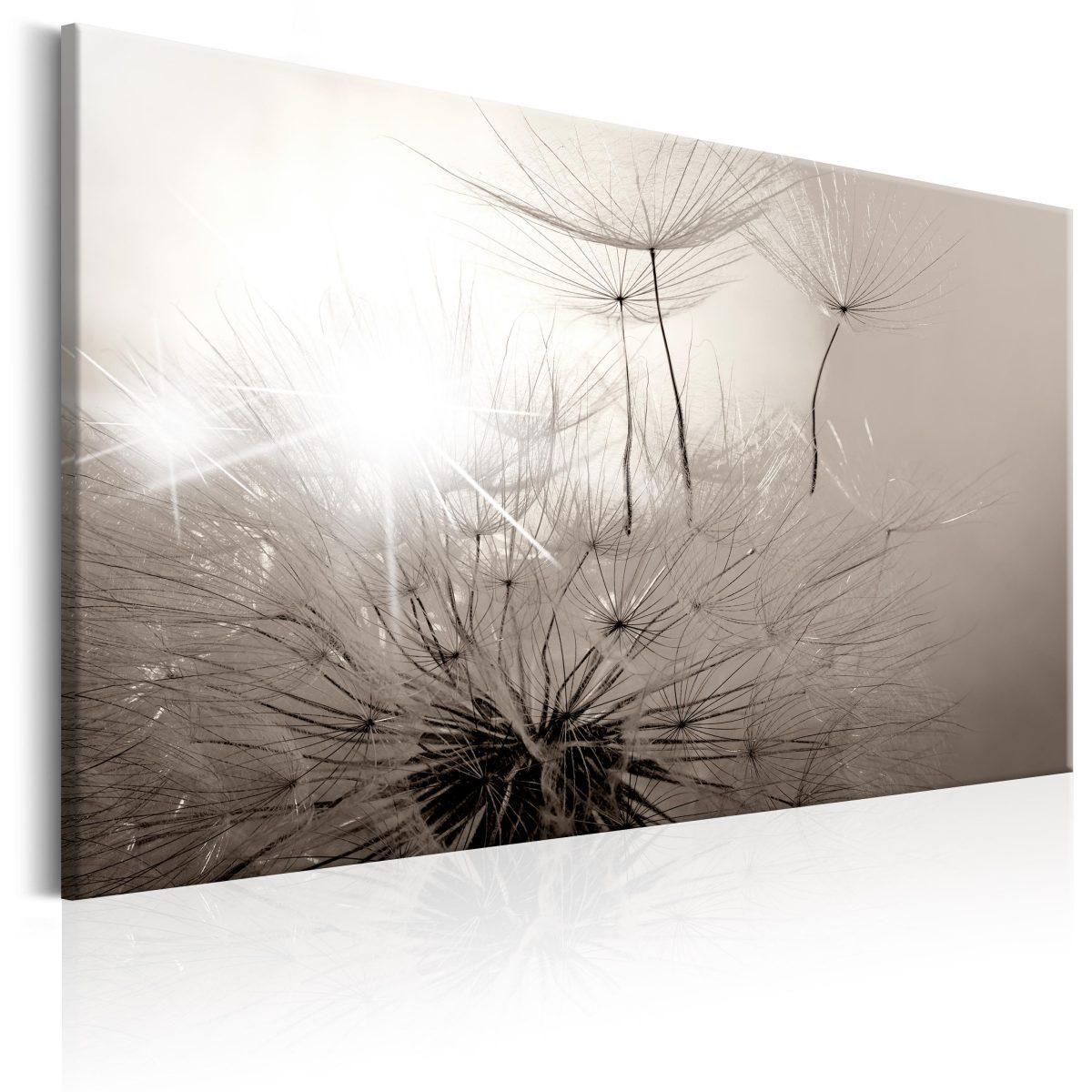 Canvas Tavla - Beautiful Summer: Dandelions - 90x60