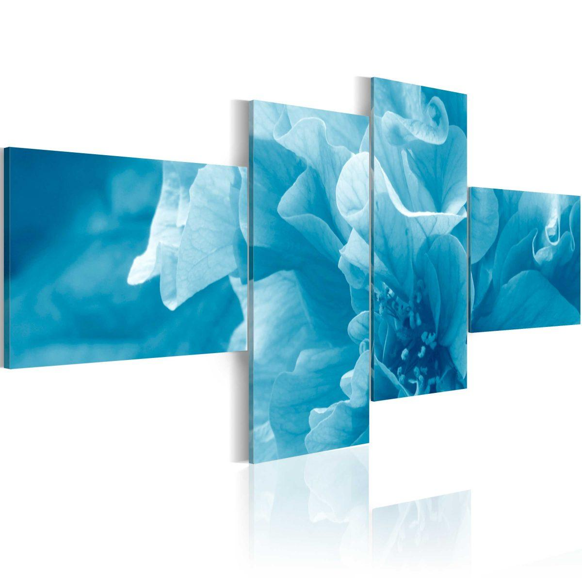 Canvas Tavla - Blue azalia flower - 100x45