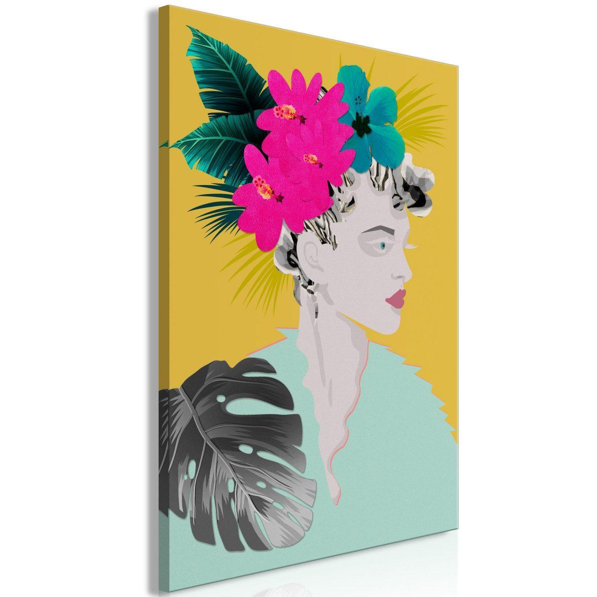Canvas Tavla - Flowers In The Hair