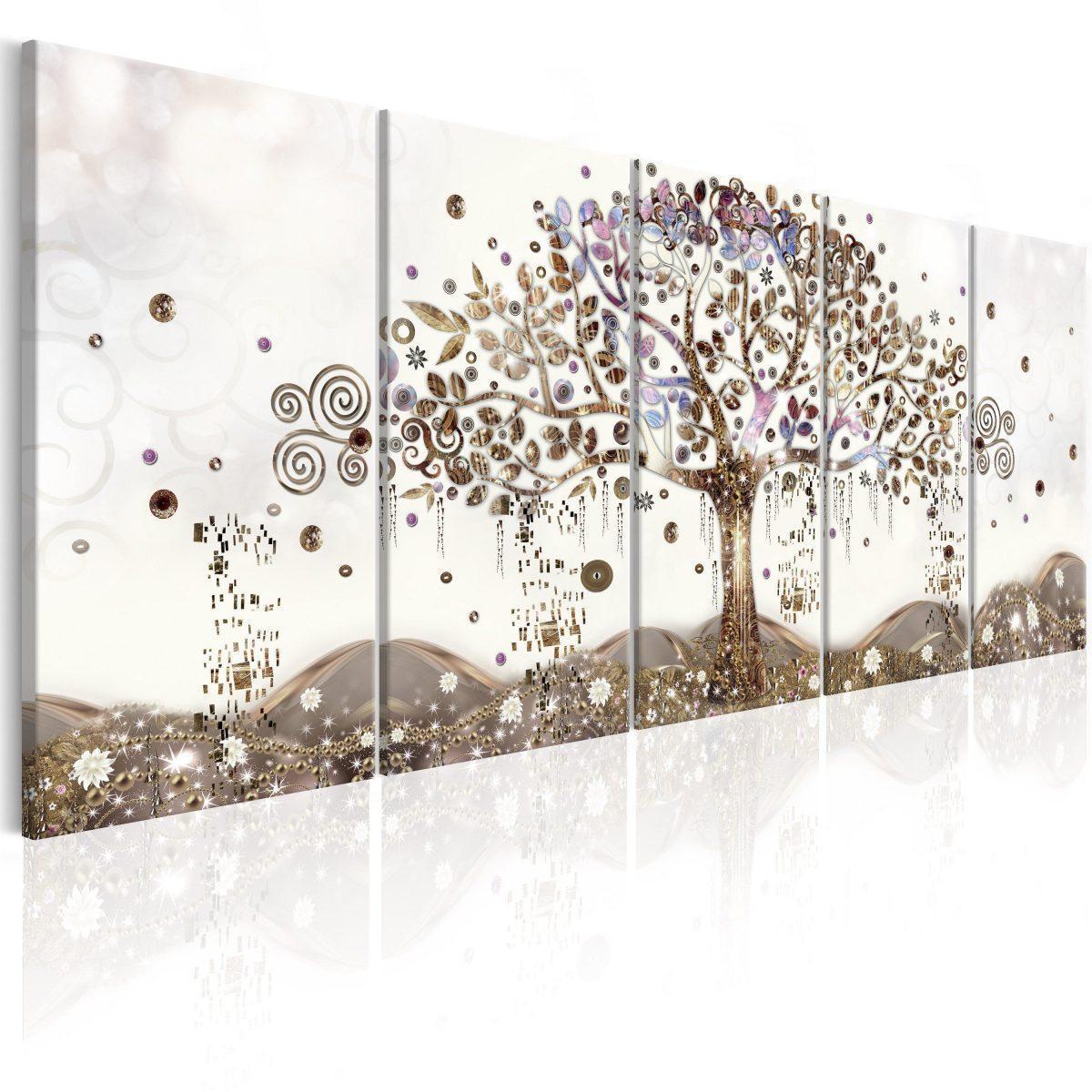 Canvas Tavla - Geometric Tree - 200x80