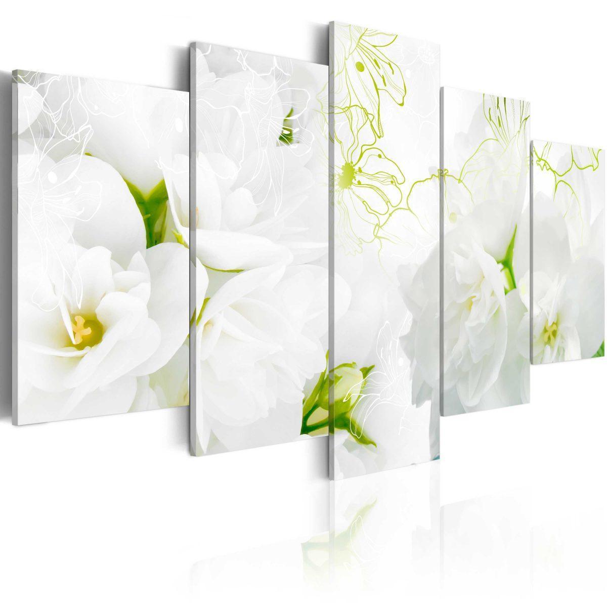 Canvas Tavla - Natural white - 100x50