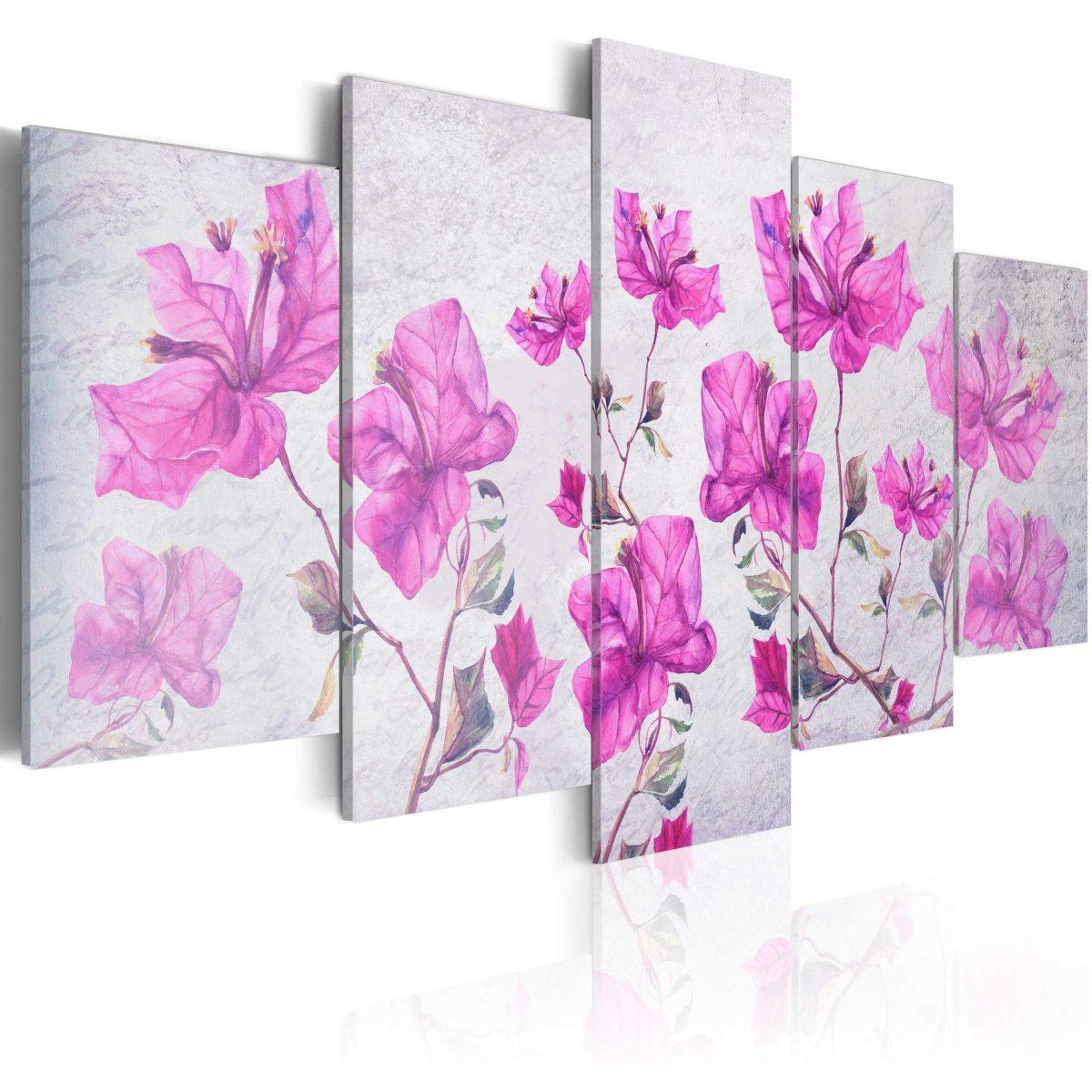 Canvas Tavla - Purple Flowers - 100x50