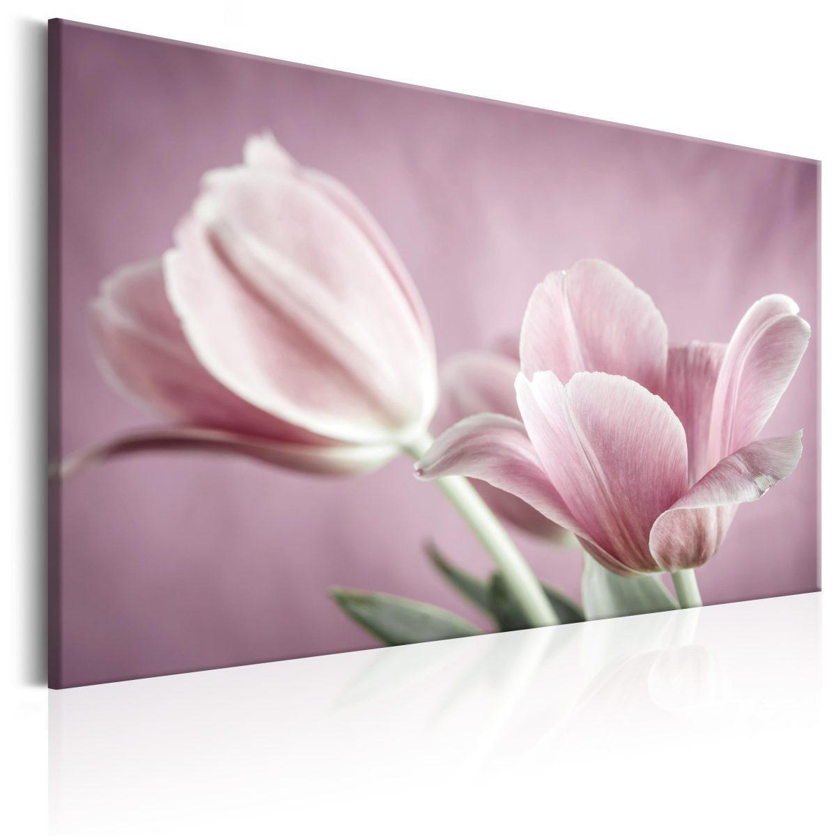 Canvas Tavla - Romantic Tulips - 60x40