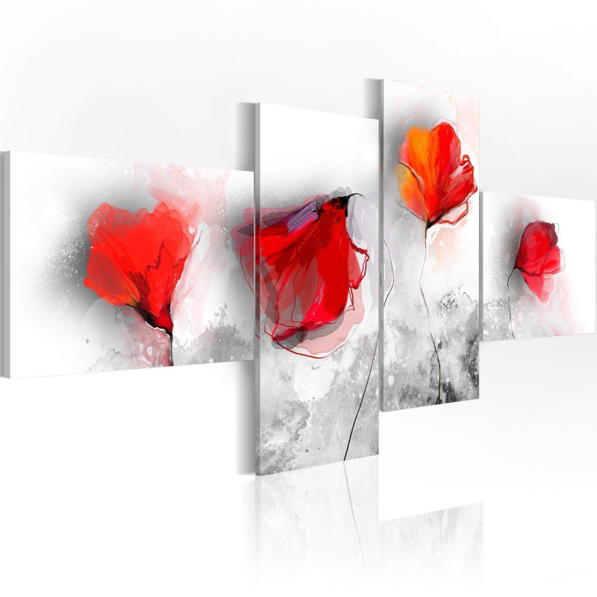 Canvas Tavla - Sentimental poppies - 100x45